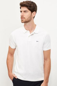 Cortefiel Cotton polo White