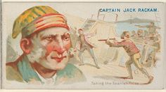 Captain Jack Rackham, Taking the Spanish Prize, from the Pirates of the Spanish Main series (N19) for Allen & Ginter Cigarettes