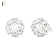 PEONIA diamond earrings in 18kt white gold and palladium - Wedding nacklaces (*Amazon Partner-Link)