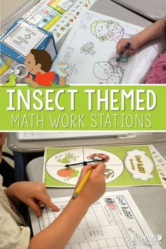 Insect themed math centers for kindergarten.  Addition, graphing, counting, subitizing and MORE!