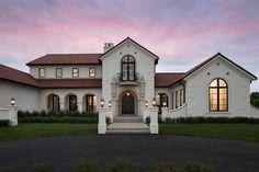 Mediterranean modern home in Minnesota flaunts exceptional details #dream #house #mediterranean