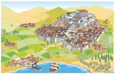 Antigua Polis griega Descripción:Una infografía para representar a las ciudades estado (polis) griegas de la antiguedad clásica