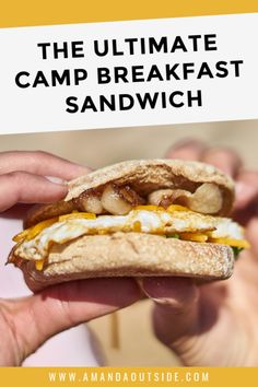 This is the ULTIMATE car camping breakfast sandwich! It's delicious, quick to make at camp, and perfect for feeding a large group of campers. Read on for a video tutorial, the complete recipe, and a few more awesome camping breakfast ideas! Easy Camping Breakfast, Breakfast Recipes, Breakfast Ideas, Camping Desserts, Camping Meals, Camping Jokes, Camping Recipes, Camping Tips, Hash Browns