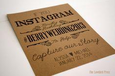 Personalized Printable Rustic Wedding Instagram Sign - Hashtag Wedding Sign - Rustic Wedding - PDF - DIY - AA2 on Etsy, $8.00
