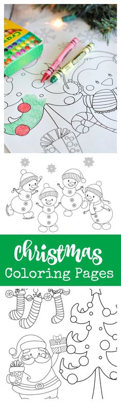 25 Ways to Spend your Christmas Holidays Free Printable Christmas Coloring Pages. Something festive for the kids to do while you need to attend to a few things. Preschool Christmas, Noel Christmas, Christmas Crafts For Kids, Christmas Colors, Holiday Crafts, Holiday Fun, Festive, Christmas Parties, Xmas Party
