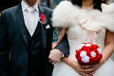 really chill wedding/reception at '50s place...and Mario mushroom bouquet, haha