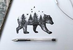 Con un bolígrafo negro, pasión por la naturaleza y arte en la mano se puede llegar a obtener esta serie de ilustraciones bien inspiradoras.