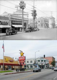 West side of Western Avenue at Fifth Street, 1927-2014