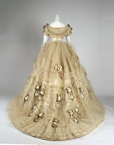 Emile Pingat. Silk Ball Gown. 1860. French.