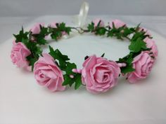 Rose hair wreath, hair garland £24.00
