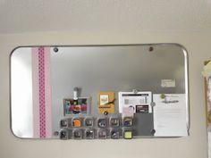 $10 oil drip pan=DIY task board