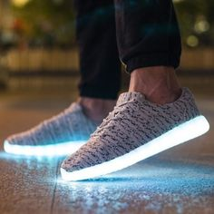 7 Color Light Up Shoes With Usb Charging Gray