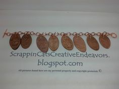 Elongated Penny Charm Bracelet