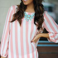 I Love You So Blouse: Pink/White | Hopes maybe brighter color combo?