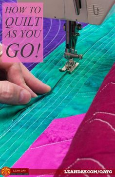 How to Connect Large Quilted Blocks – Quilt-As-You-Go Tutorial – quilt tutorials – einrichtungsideen wohnzimmer Quilting For Beginners, Quilting Tips, Quilting Tutorials, Quilting Projects, Beginner Quilting, Sewing Projects, Machine Quilting Designs, Free Motion Quilting, Quilt Baby