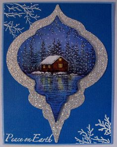 RubberStampDiva: Stampscapes Ornament Card