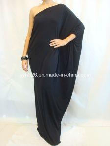 2013 Women's Black Long One Shoulder Kaftan Maxi Dress Plus Size L Xl Xxl Yyh-SL014# - China Muslim Women Dress, Kaftan | Made-in-China.com Mobile