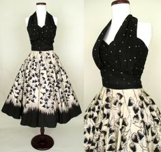 Wow! Vintage halter dress https://www.etsy.com/listing/181526625/killer-1950s-mexican-halter-dress-with