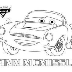 disney cars 2 finn mcmissile coloring pages | Un joli coloriage sur Cars avec Flash Mc Queen. Un dessin ...