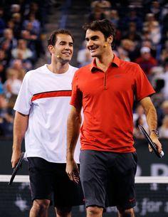 Roger Federer Pete Sampras Photos: Hit for Haiti