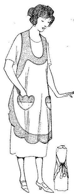 1922 scalloped edge apron.