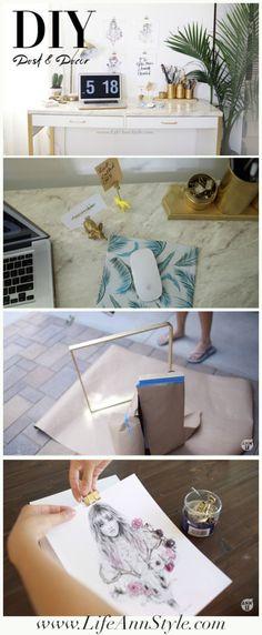 IKEA Marble Desk Hack & Easy Organization DIYS