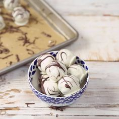 Pure and simple cookie dough disguised as fancy white chocolate truffles. Dipping anything in melted chocolate tastes better. Especially cookie dough.