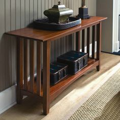 Kincaid Gathering House Solid Wood Sofa Table in Cherry 43-025