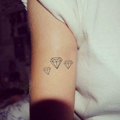 4pcs Set Tiny Diamond - InknArt Temporary Tattoo - Gemstone set wrist quote tattoo body sticker fake tattoo wedding tattoo small tattoo
