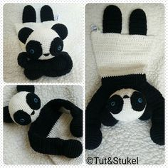 Dear little panda bear who will be your next friend to cuddle with? Available to order 1250 excl. shopping costs. #panda #bear #beer #crochet #haken #rattle #rammelaar #baby #child #children #gift #present #cadeau #kraamcadeau #handmade #handgemaakt #lovey #blanky #comforter #blankie #toys #speelgoed #tut #tuttel #doekje #knuffel #amigurumi #stukel #tutenstukel by tut_en_stukel