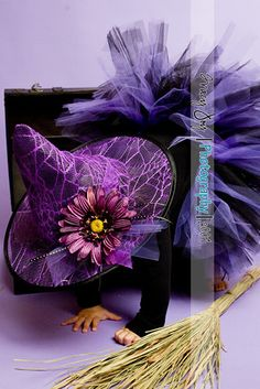 Purple on purple witch hat