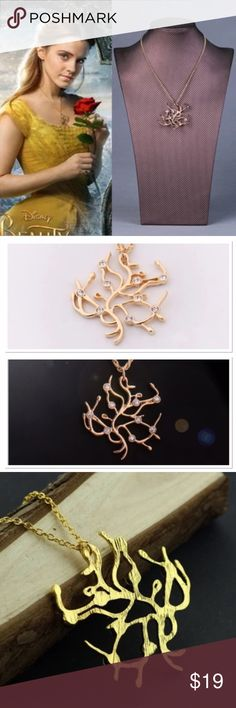 Belle's Victorian Necklace Belle's Victorian tree of life necklace as seen on Beauty and the Beast Movie.  Beauty and the Beast Necklace  Gold Plated. And you do not need to wait 1 to 2 months. STAR Jewelry Necklaces