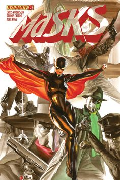 MASKS #8 (of 8) by Alex Ross Green Lama, the Spider, Miss Fury, Black Bat, Green Hornet, Kato, Shadow Zorro Terror