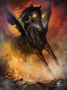 Demon horse by shiprock.deviantart.com on @deviantART