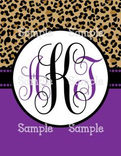 Printable Binder Cover Insert - Cheetah Print & Solid Grape Purple | aMerAZNStyLe - Digital Art  on ArtFire