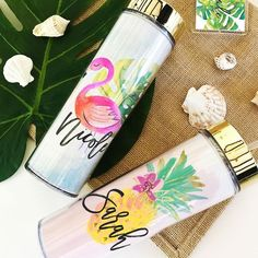 Tropical Beach Tumbler with Straw If you're a supporter of the TV series Frie… Thoughtful Bridesmaids Gifts, Bridesmaid Gifts From Bride, Will You Be My Bridesmaid Gifts, Bridesmaid Tote Bags, Bridesmaid Proposal Box, Be My Bridesmaid Cards, Custom Makeup Bags, Personalized Makeup Bags, Tumbler With Straw