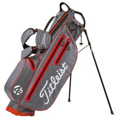 New Titleist STADRY 4up Stand Golf Bag Grey Orange 3.5 Lbs. Waterproof TB6SX2