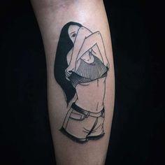 Эpoтичecкие линии: соблазнительные чёрно-белые татуировки с сексуальным подтекстом