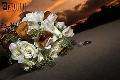 Teal & Orange Bouquet, Wedding Bouquet