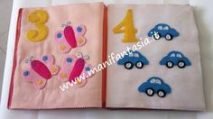 come fare un libro di pannolenci dei numeri Quiet Book Tutorial, Baby Ideas, Alphabet, Book, Fit