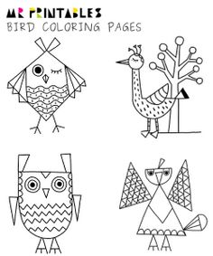 Bird Coloring Pages by Mr Printables - Owl