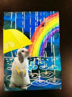 Image result for children's rain art with photo