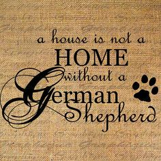 HOME wo GERMAN SHEPHERD Dog Text Word Calligraphy Digital Image Download Sheet Transfer To illows Totes Tea Towels Burlap No. 4637 on Etsy, $1.00
