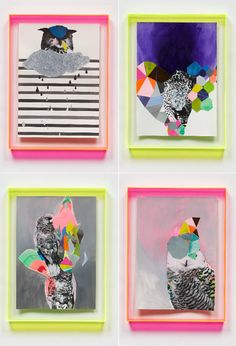 Miranda Skoczek has created the perfect mix of geometric shapes (triangles - my fav) neons and pastels, topped off with an Owl illustration.