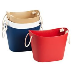 """Large Balcolore Tub Red 15"""" x 11-1/2"""" x 12"""" h"""