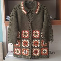 Crochet Cardigan, Long Cardigan, Embroidery, Knitting, Pattern, Sweaters, Fashion, Winter Time, Outfits