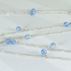 Long Blue Quartz and Sterling Silver Chain by bluesprucecrafts, $33.00