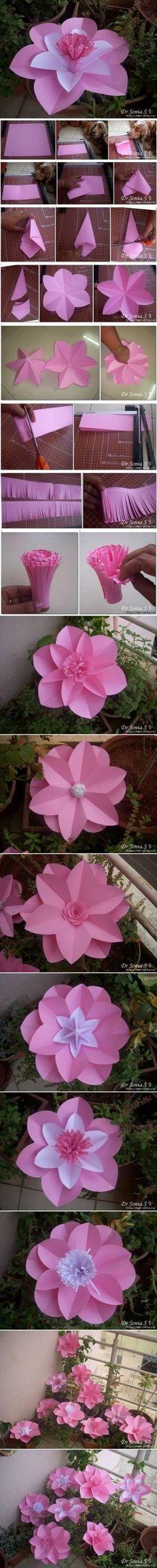 DIY Simple Beautiful Paper Flowers DIY Simple Beautiful Paper Flowers by diyforever