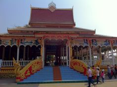 Newly renovated Wat adjacent to the Pha That Luang in Vientiane, Laos.