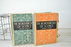 1940s vintage pair of childrens Science Books--The Wonderworld of Science.... $5.99, via Etsy.